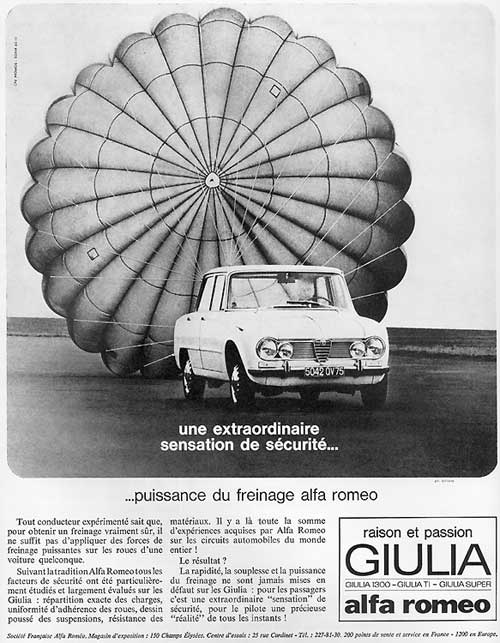 Alfa Romeo GIULIA Berlina (France - 04-1965)
