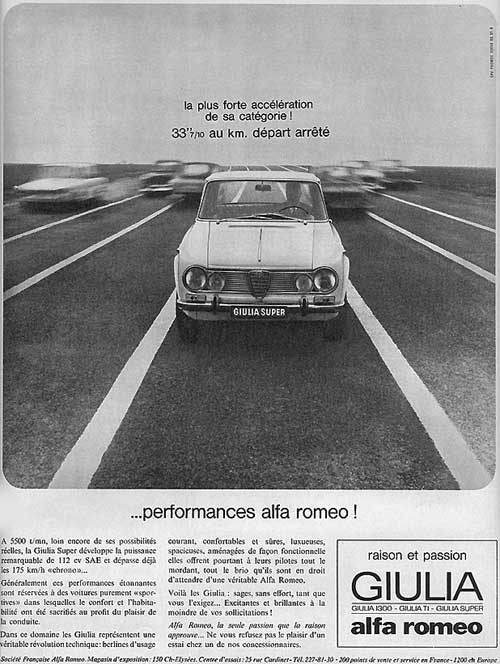 Alfa Romeo GIULIA Berlina (France - 07-1965)