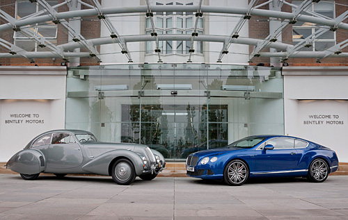 Bentley 4.25 Litre  Embiricos Special Coupé (1937) & Bentley Continental GT Speed Coupé (2012)Georges PAULIN)