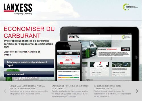 l application economies de carburant de lanxess aide choisir les pneus d t automania. Black Bedroom Furniture Sets. Home Design Ideas