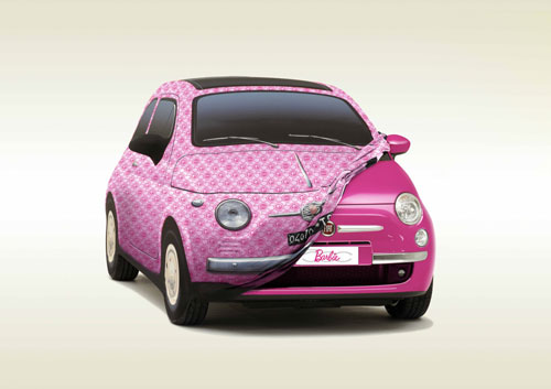 Fiat 500 Barbie Show Car 2009.
