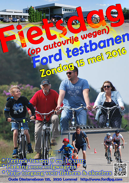 Ford Lommel Proving Ground fietsdag 2016