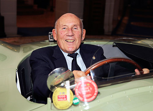 Jaguar Heritage Racing Press Conference, Sir Stirling Moss au volant de la C-type XKC 005