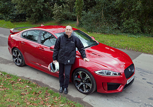 Jaguar XFR-S et Andy Wallace à Goodwood (20/03/2013)