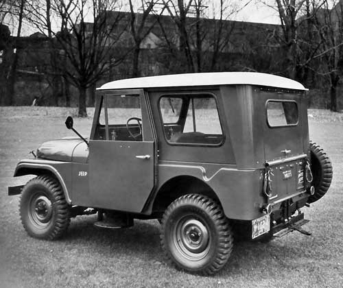 Jeep CJ-5, 1955, carrosserie fermée