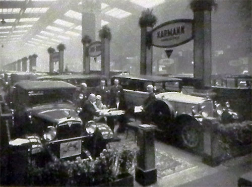 Stand Karmann au salon de Berlin fin 1928 (Adler & Mercedes)