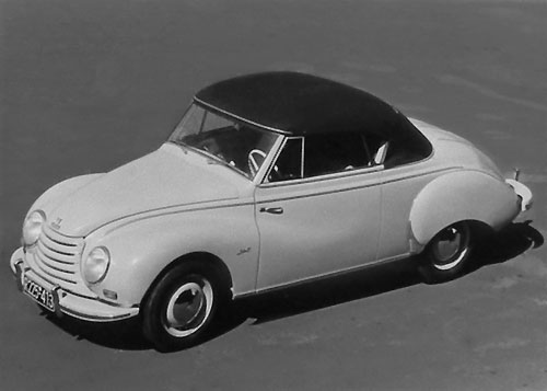 Cabriolet DKW 3=6 « by Karmann » de 1953