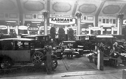 Stand Karmann au salon de Berlin 1923