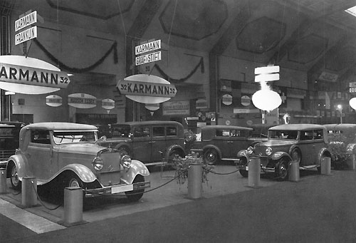 Stand Karmann au salon de Berlin 1931