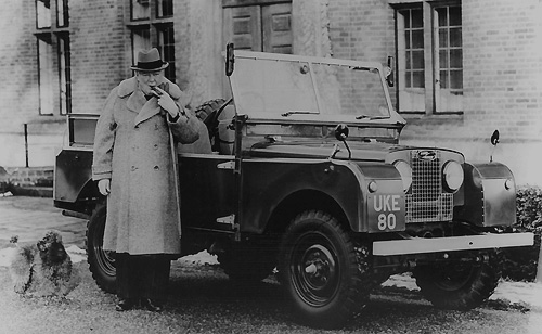 "Le Land Rover 80"" de Sir Winston Churchill en 1948"