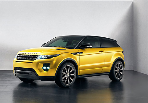 s ries sp ciales tirage limit range rover evoque sicilian yellow et le nouveau black design. Black Bedroom Furniture Sets. Home Design Ideas