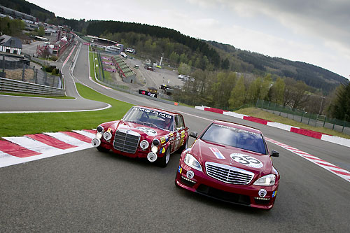 Mercedes S 63 AMG Thirty-Five Show car 2010 and 300 SEL 6.8 AMG