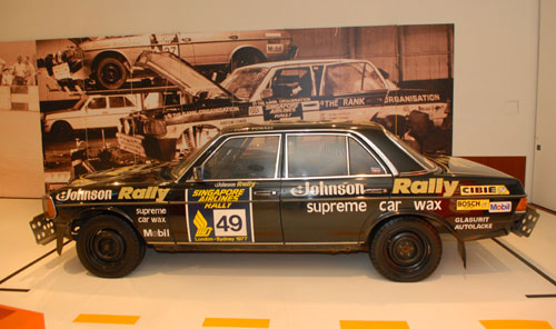 Mercedes-Benz 280 – Rallye Londres-Sydney, 1977 (collection : Mercedes-Benz, Stuttgart)