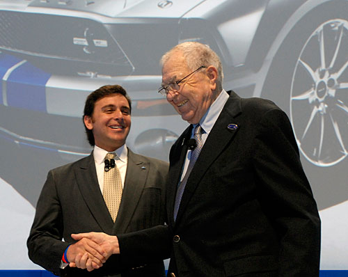 Carroll Shelby (11 01 1923 - 10 05 2012) and Mark Fields