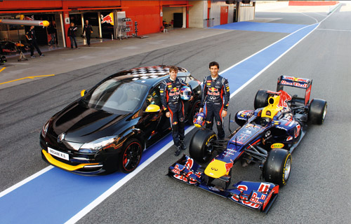 Renault Mégane R.S. Red Bull Racing RB7 et Red Bull Racing RB7