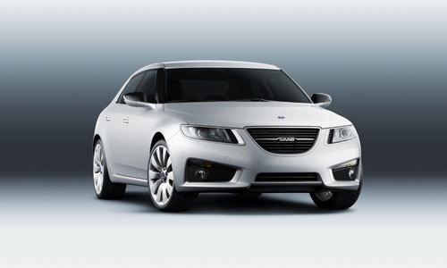 "La nouvelle Saab 9-5 Sedan 2010 ""© GM Corp."""