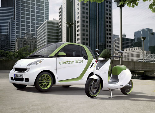 smart fortwo et e-scooter