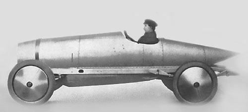 Stoewer Type C-1 carrossé pour participer aux records de Brooklands (1912)