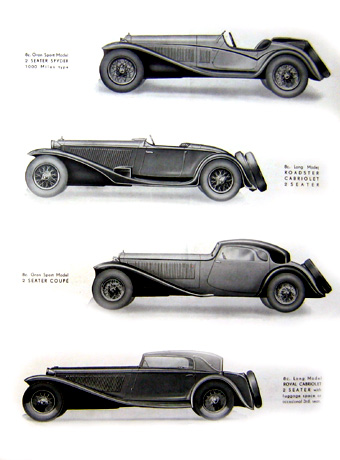 Catalogue Alfa Romeo 8C 2300.