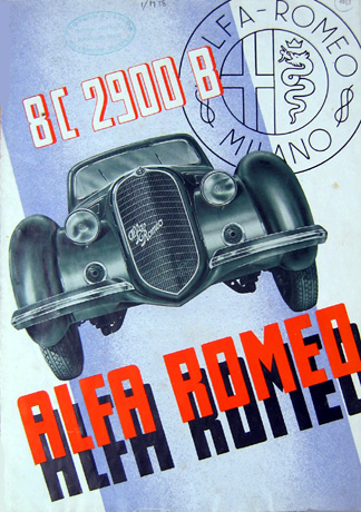 Catalogue Alfa Romeo 8C 2900B.
