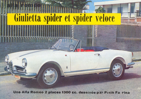The Giulietta Spider was built on a Sprint floorplan but with a short