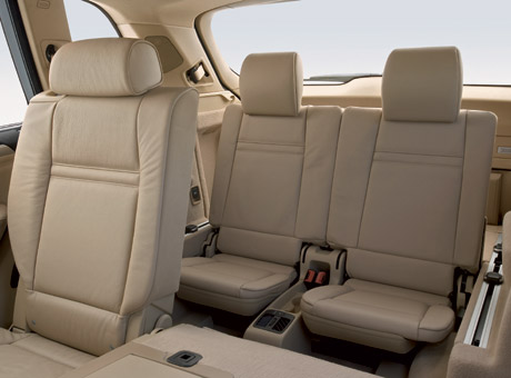 2007 BMW X5's third row.