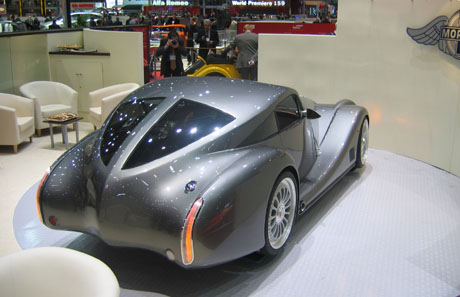 Morgan Aeromax. The aluminium chassis has safety features which have